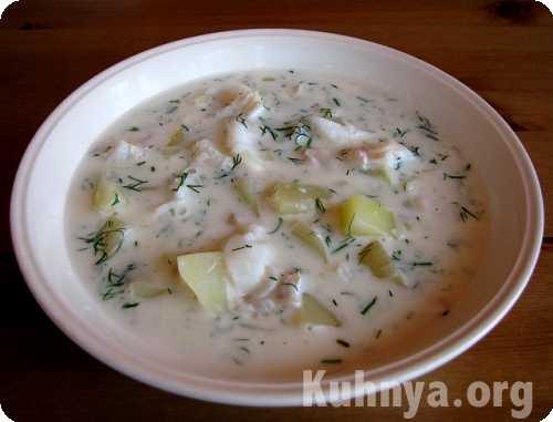 Молочный суп с рыбой