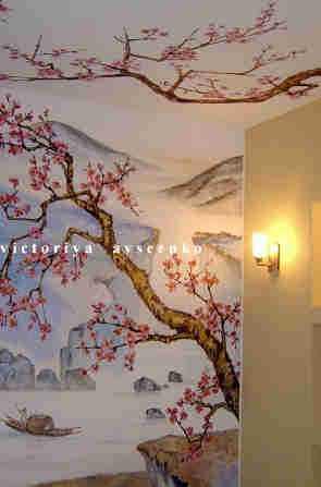 Вазочки Пейзаж в китайском стиле